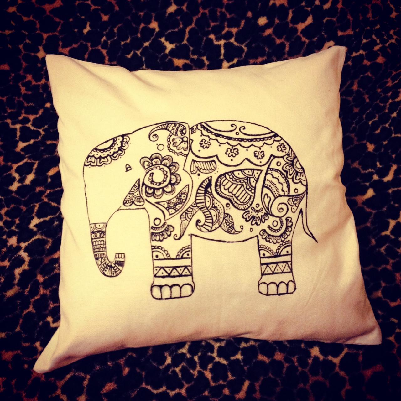 DIY Elephant Cushion | The Name Is Tania